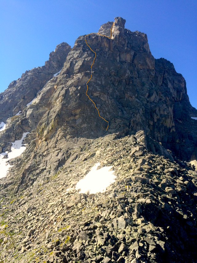 The North Ridge of Mt. Toll.